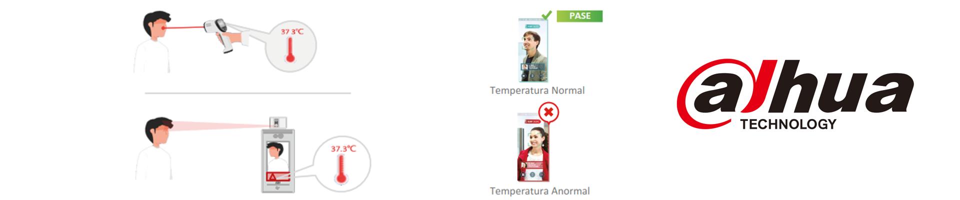 Cuenta con +/-0,5 C° como rango de error en la detección de temperatura, el sensor de temperatura y el algoritmo de compensación realizan este ajuste, asegurándonos de esta manera la certeza y exactitud en la detección de temperaturas anómalas.